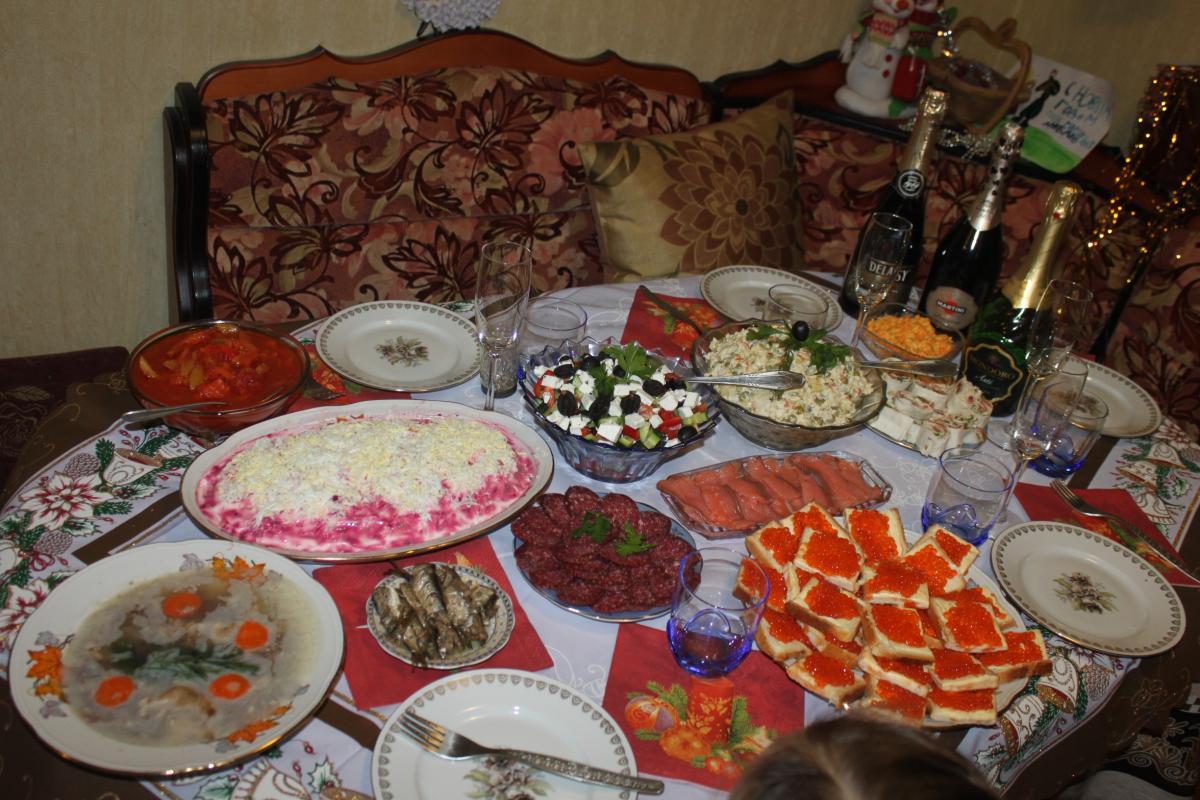 советский новогодний стол фото